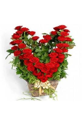 Impresionante Corazon de Rosas Rojas # 17