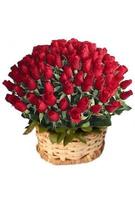 Arreglo Floral Con 100 Rosas Rojas # 38