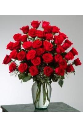 36 Rosas Rojas en Cristal # 104
